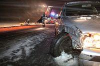 verkeersschade in winter